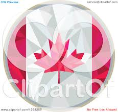 Geometric Flag Clipart Of A Low Polygon Geometric Canadian Flag Circle Royalty