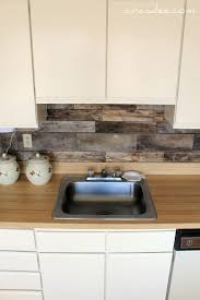 inexpensive backsplash ideas for kitchen cheap barnboard diy rustic kitchen backsplash i been