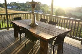 Outdoor Dining Bench by Dining Room Rustic Outdoor Dining Table On Dining Room Intended