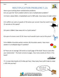 multiplication problems printable 5th grade