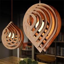 Wooden Light Fixtures Drop Led Wood Pendant Light Rustic Lighting Fixtures American