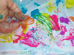 neon edible finger paint toddler activity