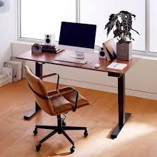 sit stand desk chair mid century sit stand adjustable desk west elm