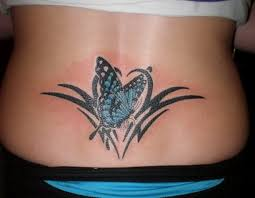 butterfly tribal on lower back tattooimages biz