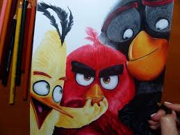 angry birds movie speed drawing