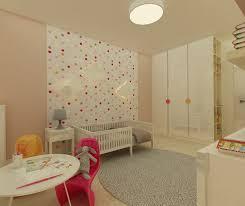 chambre bébé papier peint design interieur déco murale chambre bébé papier peint pois