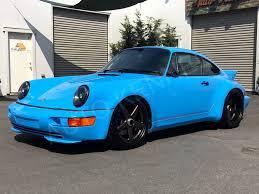 porsche 930 turbo blue autokennel