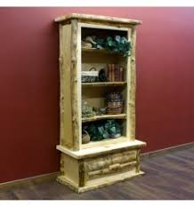 Aspen Bookcase The Solid Wood Bookcase Rustic Log And Country Style Bookcase