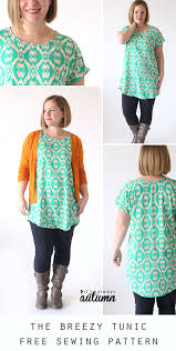 blouse sewing patterns the breezy tunic free sewing pattern it s always autumn