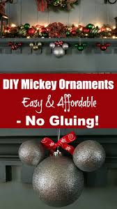diy mickey ornaments easy affordable no gluing sand and snow