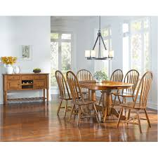 Dining Room Sets Nj by Trestle Dining Table With Self Storing Butterfly Extension Leaf By