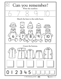collections of number 10 worksheets for preschoolers easy