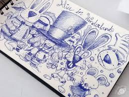 alice wonderland characters sketch david figueiras dribbble