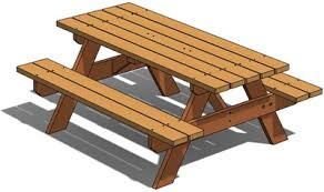 Free Plans For Outdoor Picnic Tables by Free 3d Woodworking Plans Picnic Table