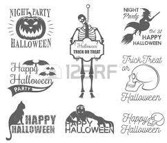 halloween badges set halloween set drawn halloween symbols