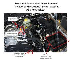 abs accumulator replacement on a range rover 4 0 4 6 p38