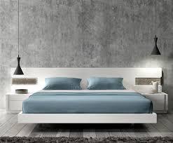 Led Bed Frame White Modern Platform Bed With Led