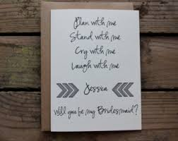 bridesmaid poems to ask bridesmaid poem etsy