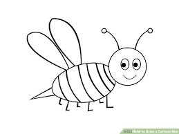 draw cartoon bee 4 steps pictures wikihow