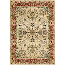 8 11 Rug Shop Orian Rugs Twisted Trad Bone Rectangular Indoor Machine Made