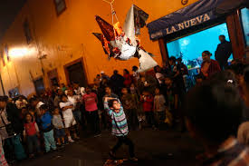 police escort bride in santa maria slum pinata in mexico british
