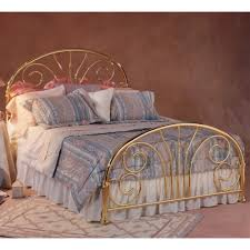 jackson iron bed in classic brass humble abode