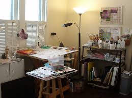 small artist studios the right side of my studio space showing