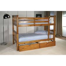 Pavo Honey Pine Bunk Bed - Pine bunk bed