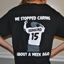 senior t shirt we stopped caring about a from getvinylized on