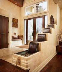 Traditional Accent Toronto Indoor Water Fountain Entry Rustic With Neutral Colors