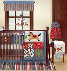 decorate your little cowboys nursery with this western crib set