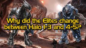 why did the elite design change between halo 3 and halo 4 5 youtube
