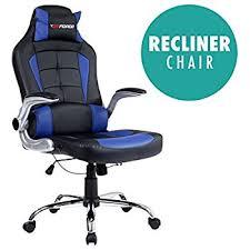 gtforce blaze reclining leather sports racing office desk chair