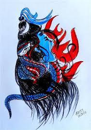 sketch of lord shiva om namah shivaya i used only 2b and u2026 flickr