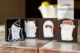 Halloween Homemade Crafts by Printable Halloween Ghosts By Carissa Miss Happiness Is Homemade