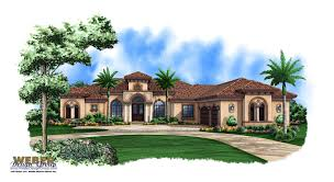 Spanish Home Plans Tuscan Style One Story Homes Print Elevation View Larger Image