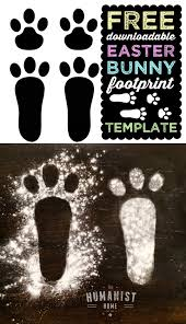 diy free downloadable easter bunny footprint template our