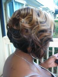 two toned bob sew in weave cut and styled by me ken at home