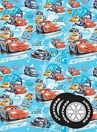 cars wrapping paper disney cars wrapping paper gift tag co uk office products