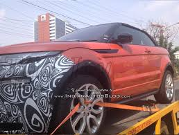 Range Rover Evoque Convertible Spied For The First Time In India