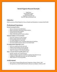 Examples Of Dental Hygiene Resumes by 8 Dental Hygiene Resume Sample Biodate Format