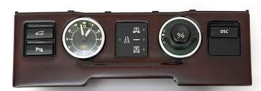 land rover wooden clock dash panel fascia walnut wood rangerover l322 vogue