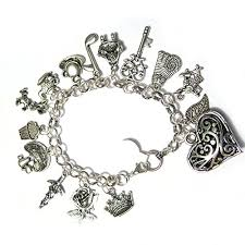 silver plated bracelet charms images Vintage fairytale charms alice in wonderland style chain bangle jpg