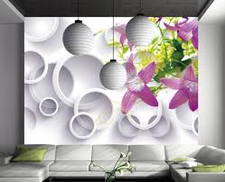 purple flowers 3d stereoscopic backdrop decorative painting purple flowers 3d stereoscopic backdrop decorative painting wallpaper 3d flowers wall murals nature in wallpapers from home improvement on aliexpress com