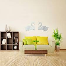 sale 3d design house decoration swans in love wall stickers