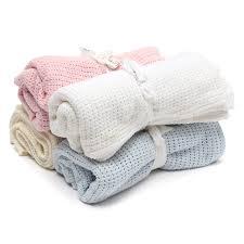 100x75cm cotton baby infant kids soft cellular blanket basket crib c8b6fa74 2798 4a45 a06d 55cad4dd273a jpg