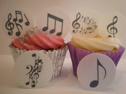Musical Note Decorations 24 Precut Musical Music Note Edible Cupcake Toppers Decorations