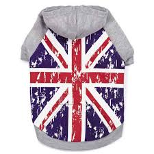 British Flag Shirts Zack And Zoey Distressed Look British Flag Dog Hoodie With Same