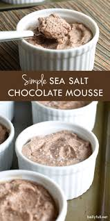 a no cook silky chocolate mousse sprinkled with sea salt