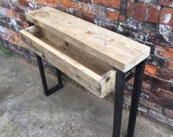 and wood made custom industrial furniture by rccfurniture on etsy